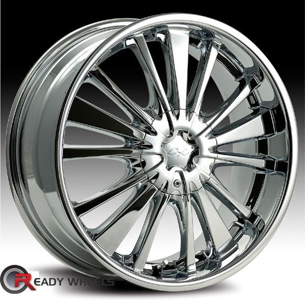 CHROME EXPRESSIONS CX 16 Chrome 8 Spoke 20 Inch Wheels
