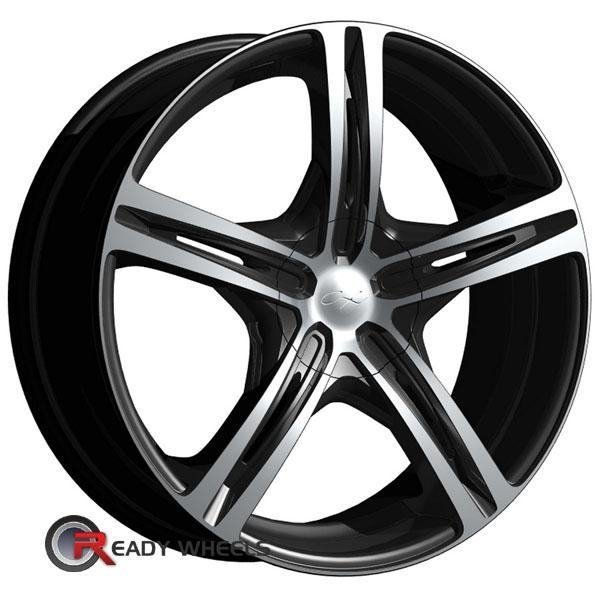 chrome expressions cx 17 machined w black 5 spoke 15 inch wheels rims tires. Black Bedroom Furniture Sets. Home Design Ideas