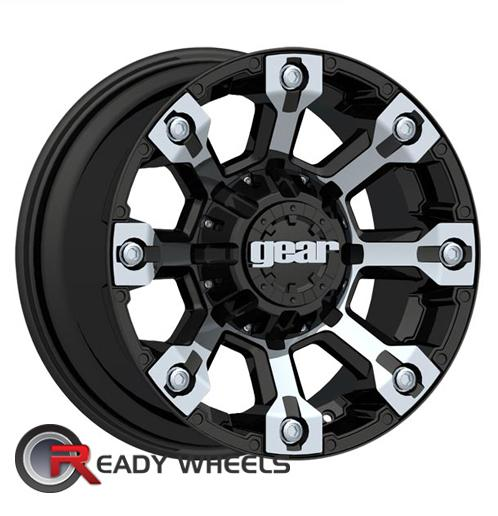gear alloy 719mb black chrome off road 18 inch wheel and tire packages rims tires. Black Bedroom Furniture Sets. Home Design Ideas