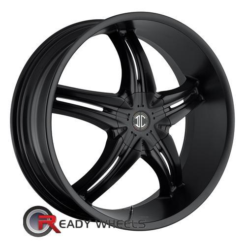 II Crave No05 Black Flat 5-Spoke Split 18 inch