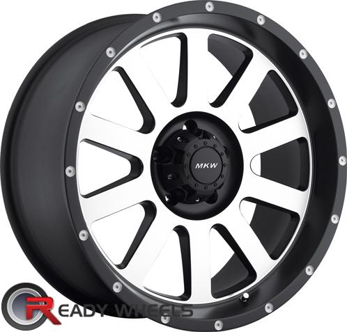 mkw m86 machined off road 20 inch wheel and tire packages rims tires. Black Bedroom Furniture Sets. Home Design Ideas