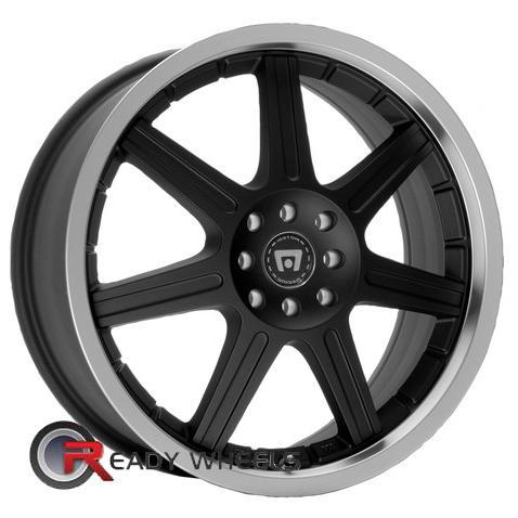 motegi racing sx7 machined black 7 spoke 15 inch rims tires. Black Bedroom Furniture Sets. Home Design Ideas