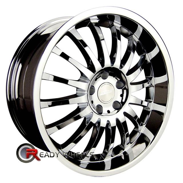 rpm r 507 chrome multi spoke 18 inch wheel and tire packages rims tires. Black Bedroom Furniture Sets. Home Design Ideas