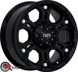 TUFF T03 Flat Black Off-Road 15 inch