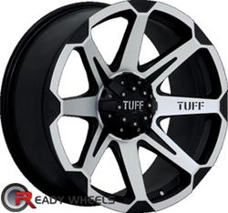 TUFF T05 Flat Black Machined Face Off-Road 16 inch