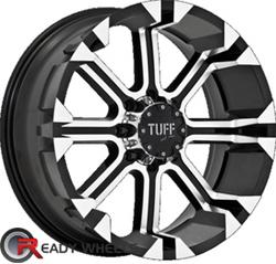 TUFF T13 Black Machined Face Off-Road 15 inch