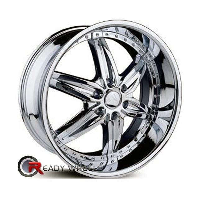 velocity v350 chrome 6 spoke 20 inch wheel and tire packages rims tires. Black Bedroom Furniture Sets. Home Design Ideas
