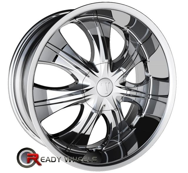 22 Inch Rim And Tire Package >> Velocity V750 Chrome 7 Spoke 22 Inch Wheel And Tire Packages