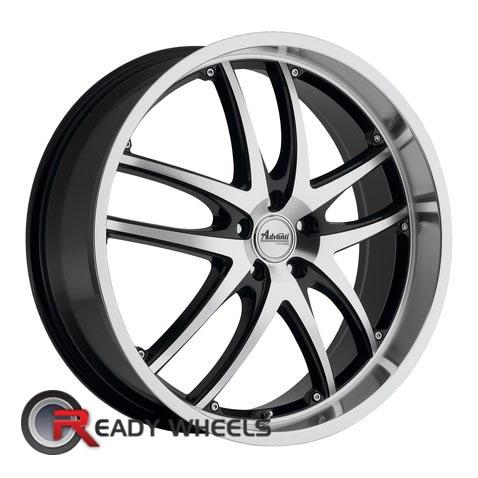 ADVANTI A3 MAUI  Machined w/ Black 5-Spoke Split 18 inch