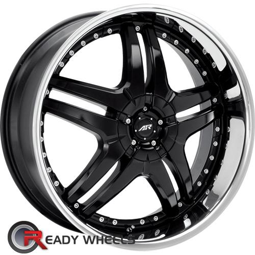 American Racing Burn Black Gloss 5 Spoke 24 Inch Wheel And Tire Packages Rims Tires