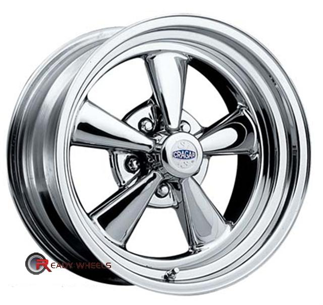 cragar 61 ss chrome 5 spoke 15 inch rims tires. Black Bedroom Furniture Sets. Home Design Ideas