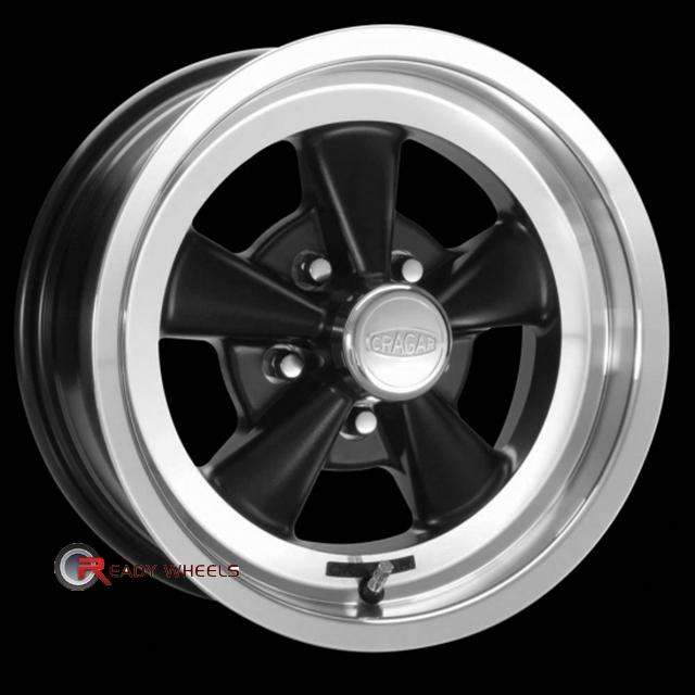 CRAGAR 610B - SS Black Gloss 5-Spoke 15 inch