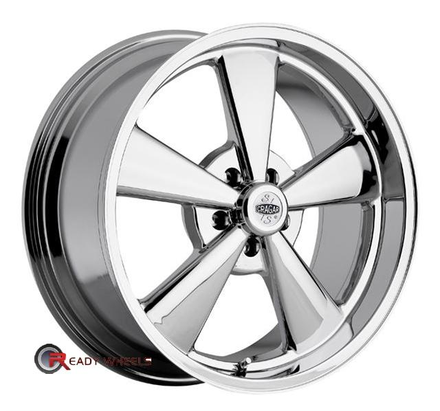 cragar 610c ss chrome 5 spoke 15 inch wheels rims tires. Black Bedroom Furniture Sets. Home Design Ideas