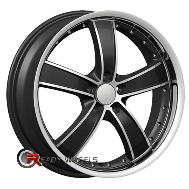 VELOCITY V855-A Machined w/ Black 5-Spoke 17 inch + Sunny SN380 205/40/17