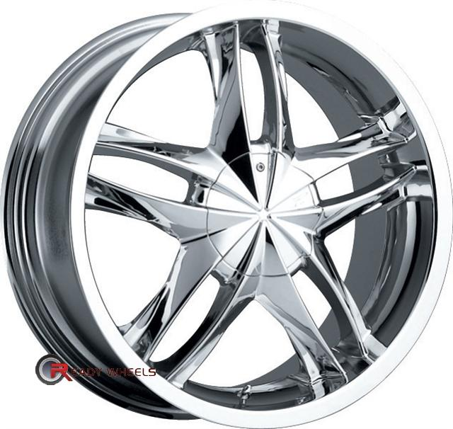 PLATINUM 256 - Twin Twist Chrome 5-Spoke Split 20 inch