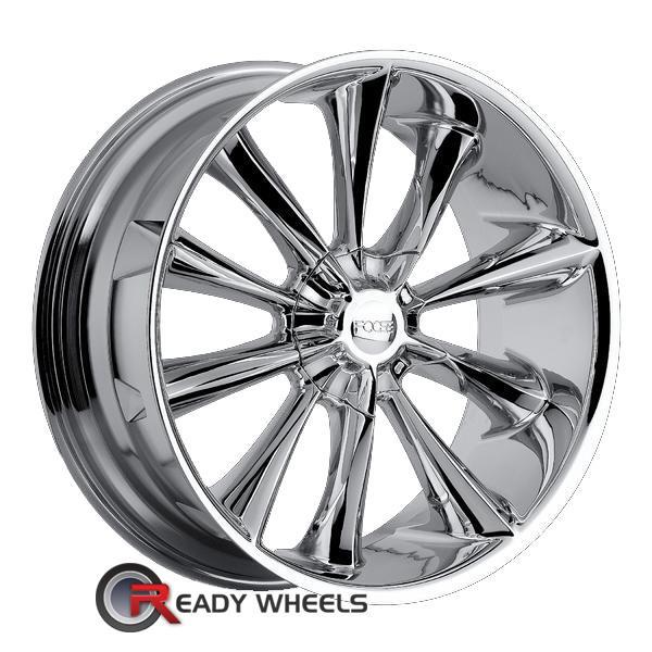 foose impression chrome multi spoke 20 inch wheel and tire packages rims tires. Black Bedroom Furniture Sets. Home Design Ideas