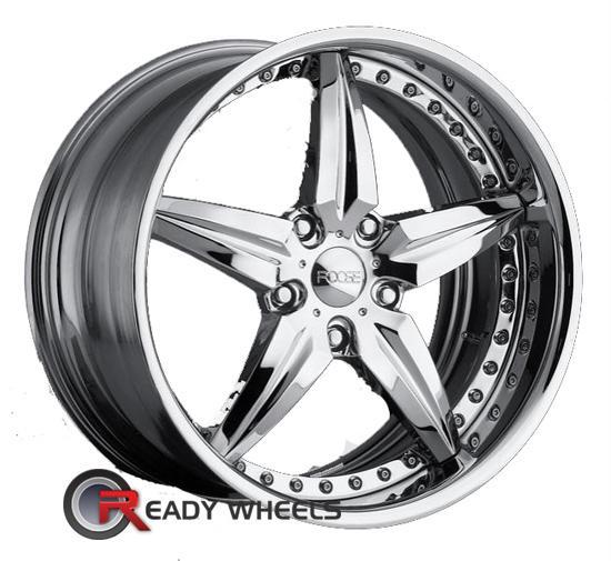 U2 55S-A Chrome 5-Spoke 24 inch | Rims | Tires