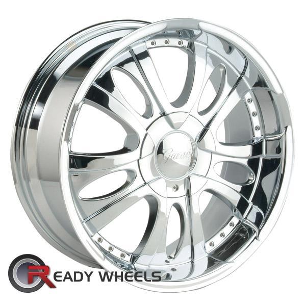 Re Chrome Rims >> Gazario 167 Chrome 5 Spoke 20 Inch Wheels Rims Tires