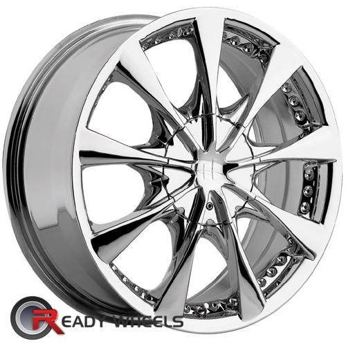 HELO He827 Chrome Multi-Spoke 15 inch