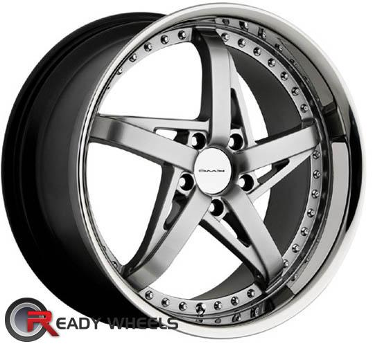 KMC Km187 Silver Gloss 5-Spoke 18 inch