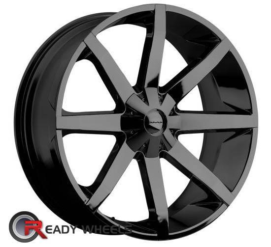 KMC Km651 Black Gloss 8-Spoke 20 inch