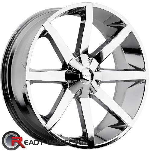 kmc km651 chrome 8 spoke 24 inch wheel and tire packages rims tires. Black Bedroom Furniture Sets. Home Design Ideas