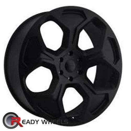 KMC Km659 Black Flat 5-Spoke 22 inch
