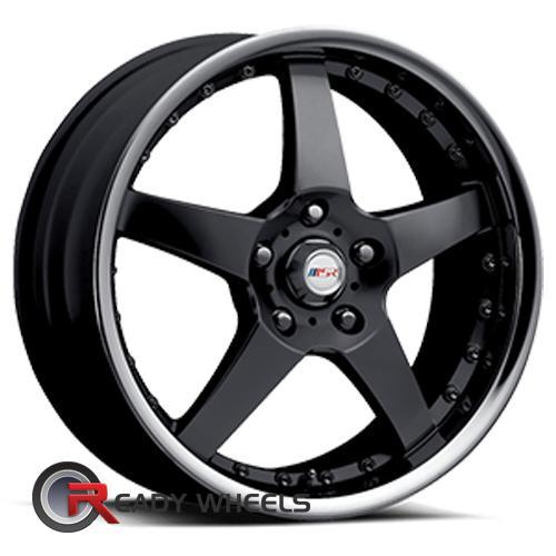 Msr 138 Black 5 Spoke 17 Inch Wheels Rims Tires