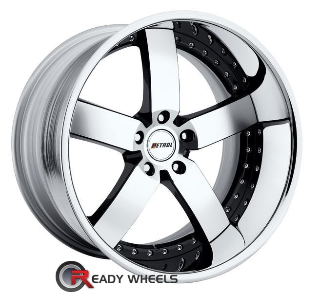 KMC Km701 Chrome 5-Spoke 22 inch Wheel And Tire Packages | Rims ...