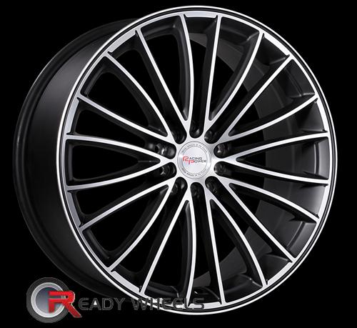 Racing Power T939A Black Flat Machine Face Multi-Spoke 17 inch
