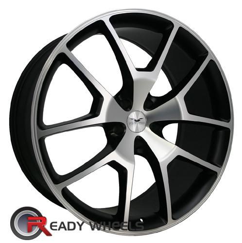 Fathom Designs FD-RA Gloss Black/Machine Face 5-Spoke Split 20 inch