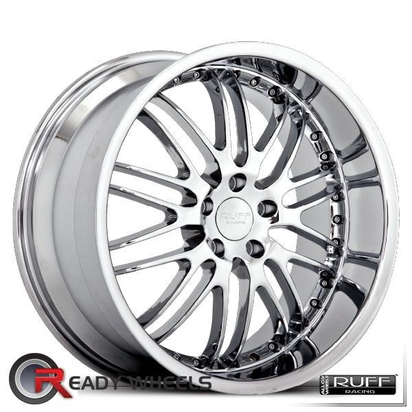 RUFF RACING R281 Chrome Mesh / Web 18 inch