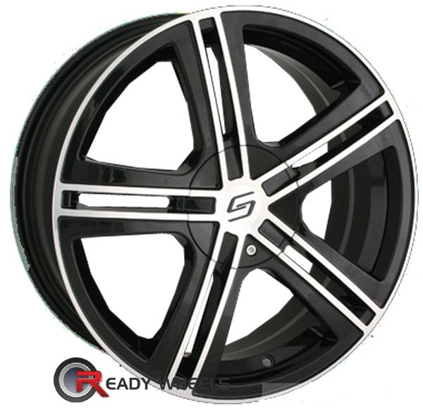 SACCHI S62 Black Gloss 5-Spoke Split 18 inch