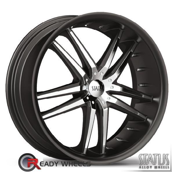 STATUS Fang Black w/ Chrome Cap 5-Spoke Split 20 inch