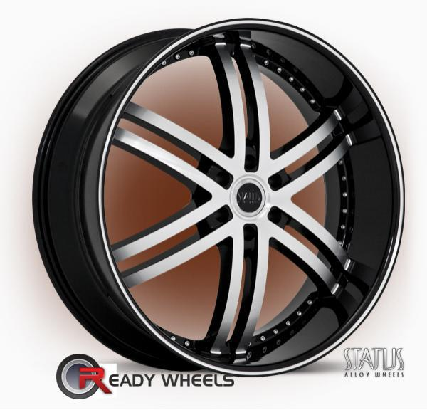 Status Knight 6 5 Spoke Split 22 Inch Wheel And Tire Packages Rims Tires