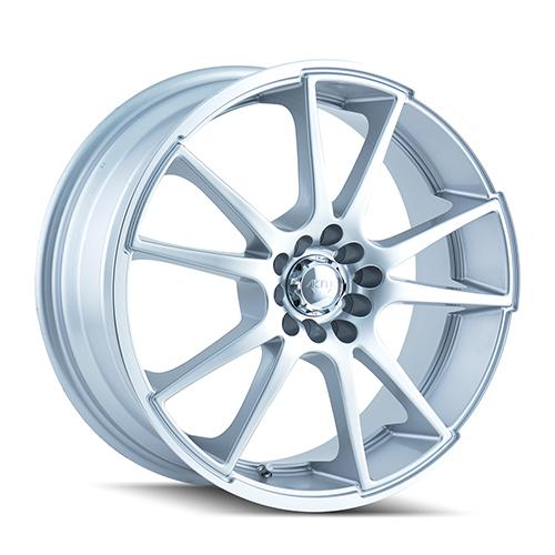 AKITA AK35 - Hypersilver / Machined Lip 4-Spoke 18 4x100 + Delinte D7 225/40/18
