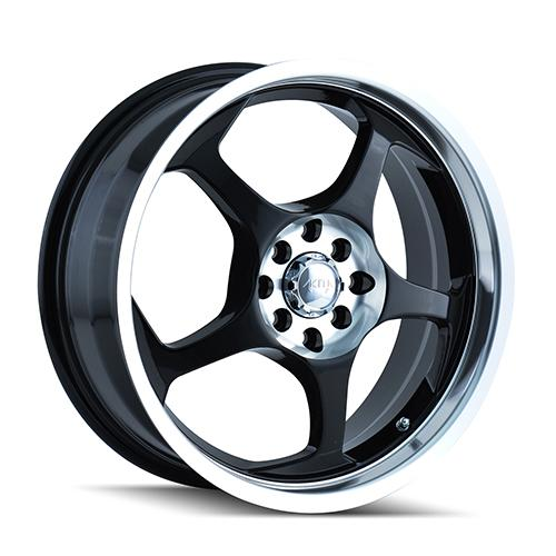 AKITA AK90 - Black / Machined Face 4-Spoke 18 4x100 + Delinte D7 225/40/18