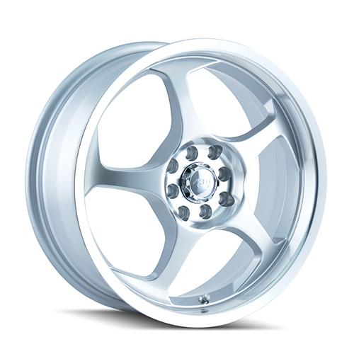 AKITA AK90 - Hypersilver / Machined Face 4-Spoke 16 4x100 + Nankang NS-1 205/45/16 ALL-SEASON