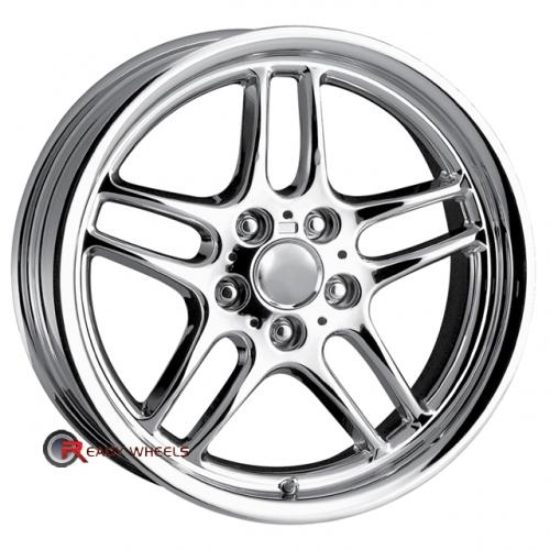 DETROIT DMP Chrome 5-Spoke Split 18 5x120 + Delinte D7 225/40/18
