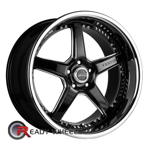 Vertini Drift Gloss Black 5-spoke 19 5x112