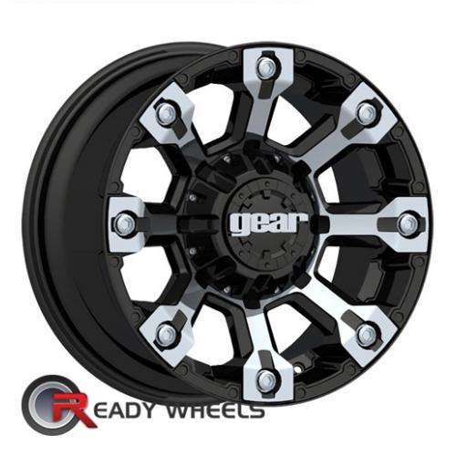 GearAlloy 719MB Black Chrome Black/Chrome Off-Road 18 8x170 + Delinte D7 225/40/18