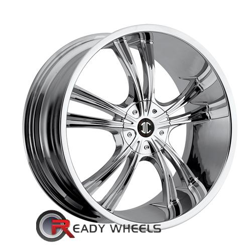 II Crave No02 Chrome 5-Spoke Split 18 4x100 + Delinte D7 225/40/18