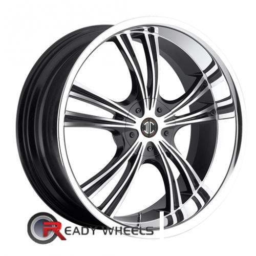 II Crave No02 Machined W/Chrome Lip 5-Spoke Split 18 4x100 + Delinte D7 225/40/18