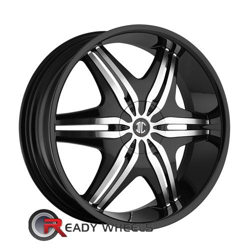II Crave No06 Flat Black 5-Spoke Split 22 5x100