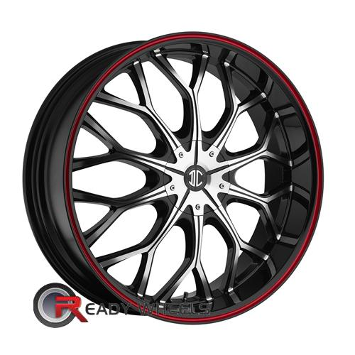 II Crave No09 Machined Black w/Stripe Mesh / Web 20 4x100