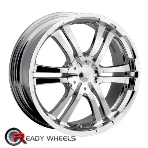 ION 114 Chrome 6-Spoke Split 18 4x100 + Delinte D7 225/40/18