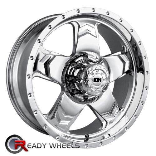 ION 177 Chrome 5-Spoke 20 5x127 + Delinte D7 245/35/20