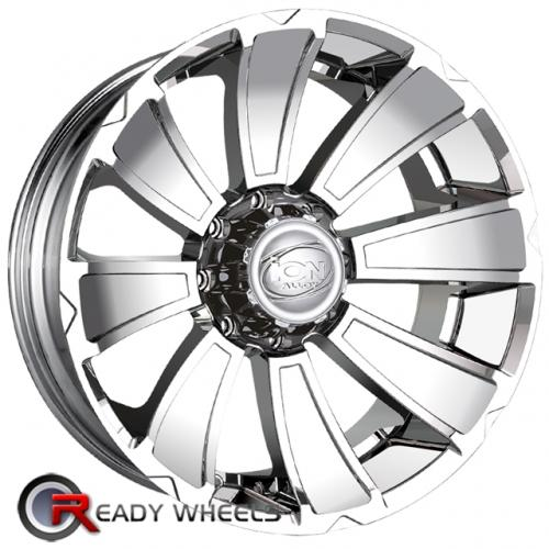 ION 180 Chrome 8-Spoke 20 5x127 + Delinte D7 245/35/20