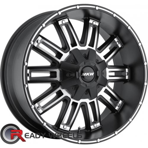 MKW M80 Black Machined Off-Road 17 5x114