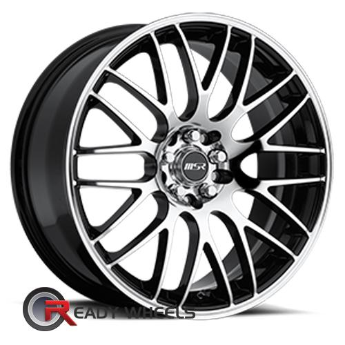 MSR 045 Machined Black Mesh / Web 17 4x100 + Sunny SN380 205/40/17